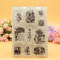 account card - Scrapbook DIY photo cards account rubber stamp clear stamp transparent stamp Alice adventures in Wonderland porker cards
