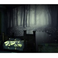 Wholesale papel de parede mysterious forest wall paper haunted house horror chamber large mural wallpaper background decorative bar
