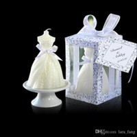 Wholesale 2017 Special Offer Velas Led Wedding Dress Art Candle Favor Gifts Party for Guest Souvenirs Birthday