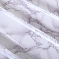 adhesive for marble - cmx2m Gray Marble Waterproof Vinyl Self adhesive Wallpaper Sticker Modern Contact Paper for Kitchen Cupboard