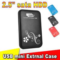 aluminium plastic enclosures - 2015 Metal quot inch USB HDD Case Hard Drive Disk USB3 to SATA External Storage HDD Enclosure aluminium Box