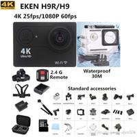Wholesale 4k action camera H9R remote Ultra HD K WiFi P fps go waterproof pro cam LCD D lens Helmet Cam gopro style