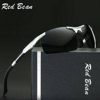 aluminium frame glass - Aluminium Magnesium Sunglasses Polarized Mens Driving Sun Glasses For Men Outdoor Leisure Sports Eyewear Brand Design Goggle Accessories New