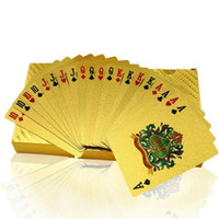 Wholesale Poker Card Gold Foil Plated Style Board Games Playing Card Game High grade Sports Leisure Game Poker Card Gift DHL