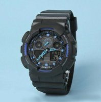 analog digital watches for men - 2016 top relogio G100 men s sports watches LED chronograph wristwatch military watch digital watch good gift for men boy dropship