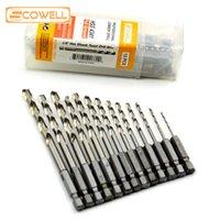 Outils professionnels de puissance Accessoires 13pcs HSS haute vitesse d'acier foret 1/4 Hex Shank 1.5-6.5mm HSS Twist Foret Bits Set