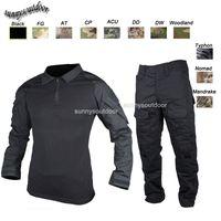 Wholesale Outdoor Woodland Hunting Shooting Shirt Battle Dress Uniform Tactical BDU Set Army Combat Clothing Camouflage US Uniform SO05