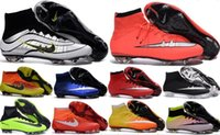 Wholesale Mens Kids CR7 Mercurial CR7 Superfly FG Soccer Shoes Magista Obra Men Women Soccer Cleats Man Football Boots Youth Cristiano Ronaldo