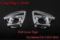 Wholesale Chrome Front Fog Lamp Cover Trim Car Covers For MAZDA CX CX5 Day Fog Lights Cover Car Styling Light Accessories
