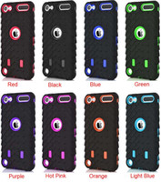 achat en gros de pneu pneu hybride-Pneu de pneu Hybrid Hard PC Silicone Dual Layer Case Pour Ipod Touch 6 6G 6th 5 5th Pneu de Voiture Shockproof back Cover