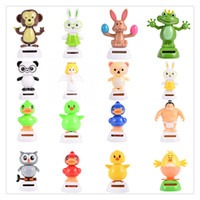 Wholesale 2017 New Solar Powered Santa Christmas Doll Dancing Christmas Decoration CoolCar Dancing Toys Frog Owl Car Accessories