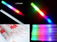 Palillo de resplandor palo de resplandor Concierto Concierto palos de luz palos luminosos coloridos personalizados de encargo de la esponja de la espuma del palillo
