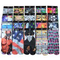 Wholesale 3d design Kids Women Men hip hop Carton Socks d Odd Breathing Socks Cotton Skateboard Printed comfortable SocksFreeshipping