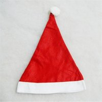 Wholesale 2016 new hot selling christmas hat non wovens children adult christmas decorationsten up to buy more than ten bag mail