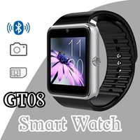 Wholesale Male Female GT08 Smart Watch with SIM TF Card Built Phone Bluetooth SmartWatch A1 U8 and NFC for Android IOS Phones DHL