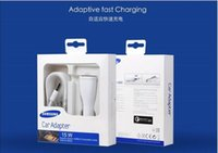 Wholesale 15W V A V A Fast Car Charger Set for Samsung Galaxy Note4 Note5 S6 Edge Adaptive Fast Charging Adapter Cable Set