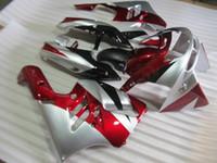 Acheter Zx 9r 94 97 carénages-Nouvelle moto ABS Kits de carénage Fitment pour KAWASAKI Ninja ZX9R 1994 1995 1996 1997 ZX-9R 9R 94 95 96 97 Carrosserie réglée argent argenté noir rouge