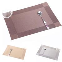 Venta al por mayor- Placemat Moda PVC mesa de comedor Mat Disc Pads Bowl Pad Coasters Impermeable Table Cloth Pad Pad antideslizante