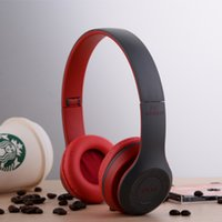 Wholesale P47 Wireless Bluetooth Headphone Sport headsets Headband Earphone With MF TF for Apple Samsung HTC LG Mobile Phone