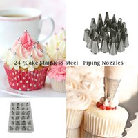 Wholesale Stainless steel Nozzle Cake Cupcake Decorating Icing Piping Nozzles Russian Rose Nozzles Tips Cooking Cake tools