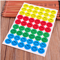 Wholesale Children Smile Face Reward Stickers School Teacher Merit Praise Class Sticky Paper Lable