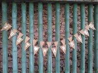 Vente en gros- Événement Fournitures de fête juste marié burlap bannière de mariage bannière de couleur unie tissu mariage jute string decoracao de mariage