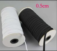 Wholesale 30m mm wide flat elastic band black and white color garment sewing accessories elastic webbing
