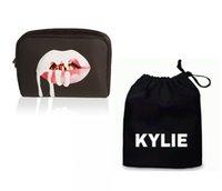 bag dust collection - 6sets Kylie Jenner Cosmetics Make Up Bag Birthday Edition Collection Kylie Lip Kit Makeup Bag Drawstring Dust Bag