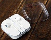 Wholesale iPhone s plus Earphone Original Headset ipad Headphone mm Handsfree with Mic Earphones iphone5s s Earbuds with Retail Box
