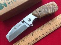 Wholesale Hand made CRKT Knife Tool RH Graham Stubby Tanto Folding Pocket Razel Knife Survival Camping Tactical Knife Gift