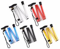 Wholesale New Design Adjustable Aluminum Alloy Metal Folding Cane Walking Sticks Adjustable Height and Non Slip Rubber Base Walking Stick