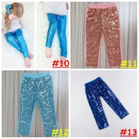 baby bling leggings - Girl Cotton sequins Trousers colors Baby Fashion Bling leggings Candy color Pants gold glitter leggings size choose free