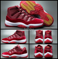 Wholesale Air Retro XI Velvet Heiress Mens Basketball Shoes Red Low High Cut Sneakers s Trainers Athletics Sport Shoes US