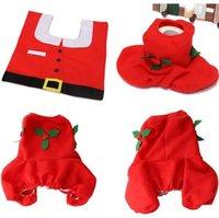 bathroom accessory sets cheap - Cheap Good pc set Christmas Santa Claus seat cover rug tank cover bathroom accessories Christmas Decor