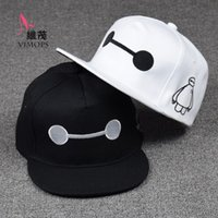 Wholesale Adults Kids Style Big hero Baymax Baseball Caps Cartoon Character Hats Caps