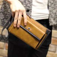 Wholesale England Style Men s Leisure large wallet brand clutch bags Men fashion Card pack business leather clutch Black or brown