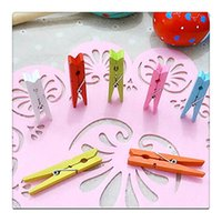 Wholesale Wood Craft Clothespins with Spring Wooden Mini Clothes Pins Multicolor Clothespins for Wedding Party Decoration