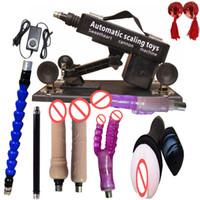 Wholesale Automatic Sex Machine Gun Set for Men and Women with Many dildo cm Retractable Adjustable Speeds Machine Set Attachments