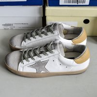bass leather shoes - Italy Deluxe Brand Golden Shoes Women Men Bass Original White Genuine Leather Casual Goose Shoes Scarpe Sapato Calzado Deportivo