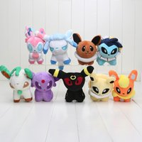 Wholesale 5 quot Pikachu Plush Toys styles Umbreon Eevee Espeon Jolteon Vaporeon Flareon Glaceon Leafeon pikachu Soft Stuffed Plush Animals