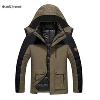 active hood product - 2016 New Product Large size Casual Winter Jacket Men Outwear Parkas Warm Windproof Waterproof Hood Men in Coat Size L XL