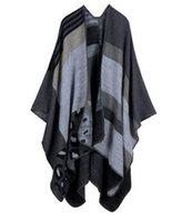 Wholesale 2016 Winter Scarf Shawl cashmere lady all match Plaid Travel Europe trade folk style split thick shawl