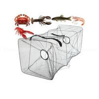 1 Pc pesca de nylon plegable neto de captura de peces de cangrejo Crawdad camarón mina de malla de jaula de pesca de cebo trampa de fundición de inmersión de inmersión de camarones orden neto $ 18no t