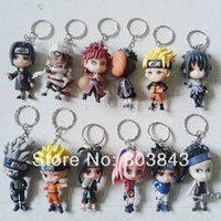 Wholesale Fashion Jewelry Key Chains Full Set Good PVC Anime Naruto Keychain Shippuden Sakura Kakashi Pendant Boys Girls Gift Toy Decoration