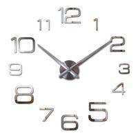 Wholesale hot sale wall clock diy reloj de pared modern design horloge murale large decorative clocks quartz watch living room brief