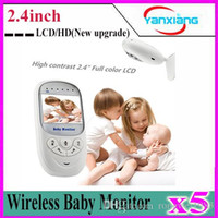 Wholesale 5pcs Wireless Baby Monitor inch LCD color Wireless Digital HD Video Baby Monitor Security Camera New upgrade YX YE
