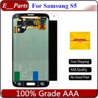 оптовых s5 lcd screen-Новый класс AAA + для Samsung Galaxy S5 ЖК-дисплей i90000 G900F G900H G900M G9001 G900R ЖК-дисплей сенсорный экран Digitizer сборка Быстрая бесплатная доставка