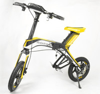 Wholesale Solarstars Robstep X1 City Version Foldable Electric Bicycle Bluetooth Support Ah Lith on Batery Cycling Portable Bike Yellow