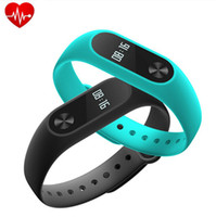 Wholesale M2 Heart Rate Smart Wristbands Band Smart Bracelet Bluetooth Smartband Fitness MI2 Miband Wristband with OLED Display