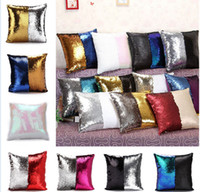 Wholesale Sequin Glitter Pillow Case cover Reversible Sofa Cushion Cover Magic Double Reversible Swipe Pillow Covers Home Décor design KKA983